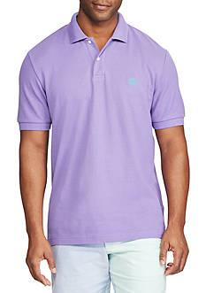 Chaps Short Sleeve Solid Pique Cotton Mesh Polo Shirt