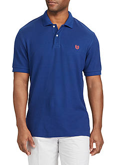 Chaps Short Sleeve Solid Pique Cotton Mesh Polo Shirt