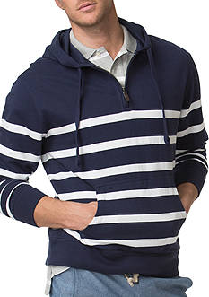 Chaps Striped Terry Hoodie