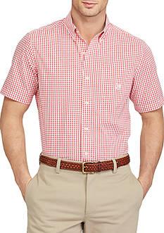Chaps Short Sleeve Gingham Shirt