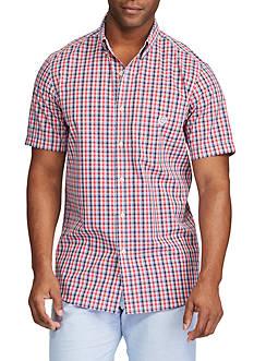 Chaps Short Sleeve Easycare Plaid Shirt
