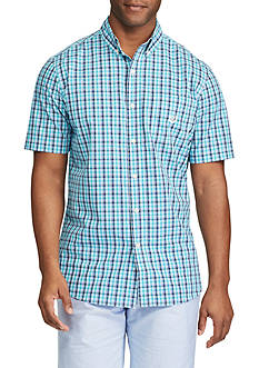 Chaps Short Sleeve Easycare Plaid Shirt