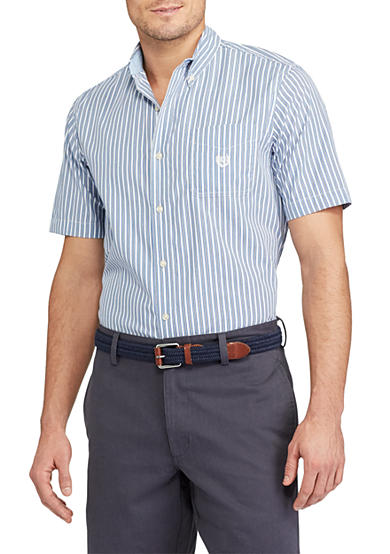 Chaps Short Sleeve Easycare Striped Shirt