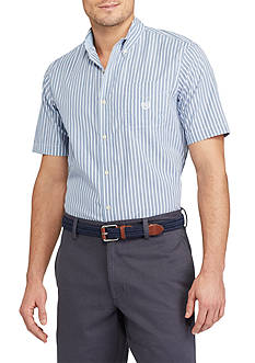 Chaps Short Sleeve Easycare Striped Shirt