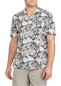 Chaps Tropical Printed Camp Shirt
