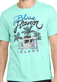 Chaps Short Sleeve Blue Haven Graphic Tee