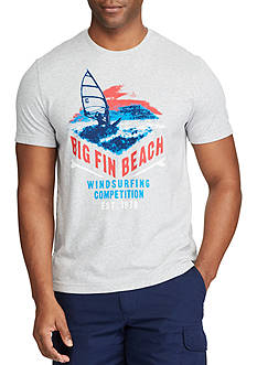 Chaps Short Sleeve Big Fin Beach Cotton Jersey Graphic Tee