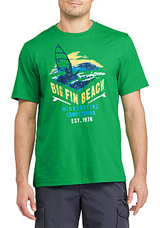 Chaps Short Sleeve Big Fin Beach Graphic Tee