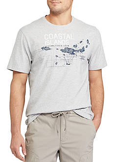Chaps Short Sleeve Coastal Islands Graphic Tee