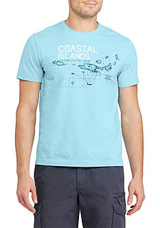 Chaps Short Sleeve Coastal Islands Cotton Jersey Graphic Tee