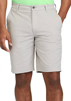 Chaps Flat-Front Stretch Cotton Shorts