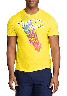 Chaps Short Sleeve Surf The Way Cotton Jersey Graphic Tee