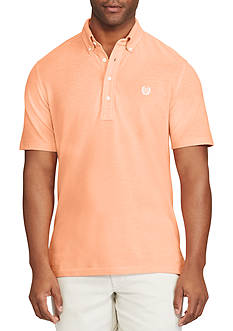 Chaps Short Sleeve Knit Oxford Polo Shirt