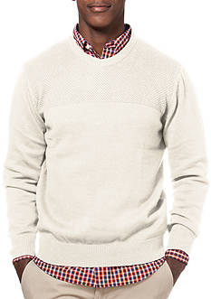 Chaps Combed Cotton Crew Neck Sweater