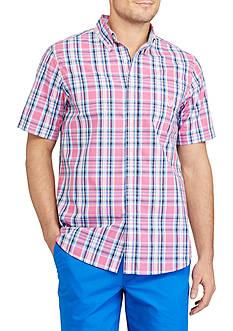 Chaps Short Sleeve Plaid Shirt
