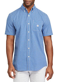 Chaps Short Sleeve Checked Shirt
