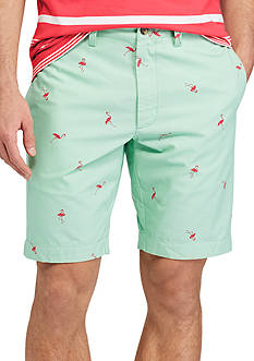 Chaps Flamingo Printed Cotton Shorts