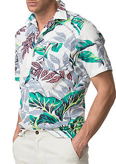 Chaps Tropical-Print Camp Shirt