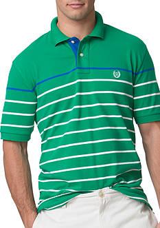 Chaps Striped Stretch-Pique Polo Shirt