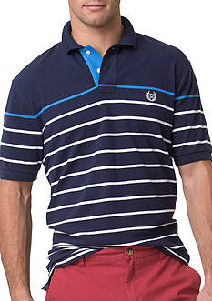 Chaps Striped Stretch-Pique Polo Shirt