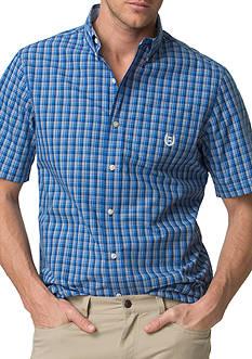 Chaps Short-Sleeve Plaid Poplin Shirt