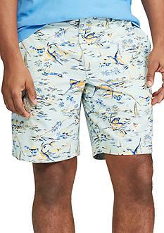 Chaps Marlin Printed Flat Front Shorts