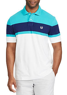 Chaps Short Sleeve Colorblocked Stretch Polo Shirt