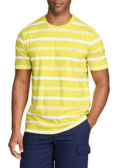Chaps Short Sleeve Striped Jersey Crew Neck Tee