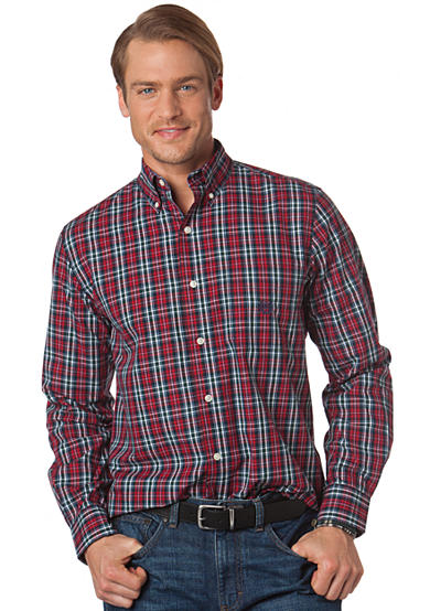 Chaps Big and Tall Glen Haven Plaid Shirt