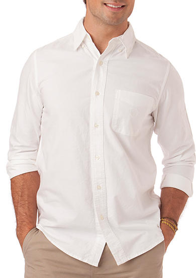 Chaps Big & Tall Chaps Oxford Woven Shirt