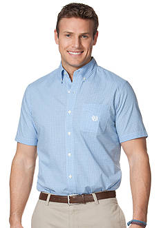 Chaps Big & Tall Wilmington Short-Sleeved Checked Shirt