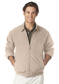 Chaps Big & Tall Full-Zip Microfiber Jacket