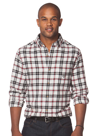 Chaps big tall plaid flannel shirt for Large tall flannel shirts