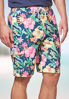 Chaps Big & Tall Tropical Board Shorts