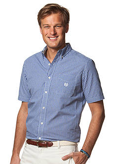 Chaps Big & Tall Short-Sleeve Checked Shirt