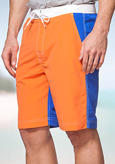 Chaps Big & Tall Color-Blocked Board Shorts