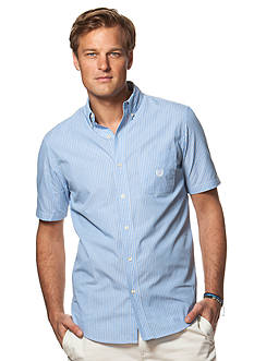 Chaps Big & Tall Short-Sleeve Striped Shirt
