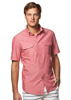 Chaps Big & Tall Short-Sleeve Chambray Workshirt