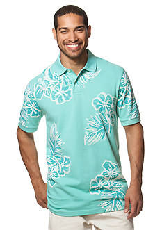 Chaps Big & Tall Floral Polo Shirt
