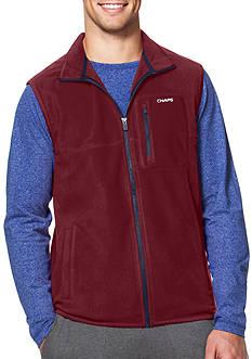 Chaps Big & Tall Fleece Mock Neck Vest