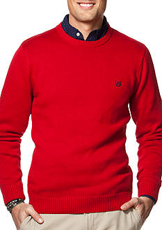 Chaps Big & Tall Combed Cotton Sweater