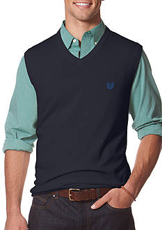 Chaps Big & Tall Combed Cotton Sweater Vest