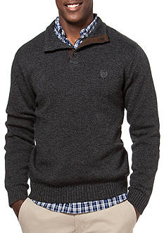 Chaps Big & Tall Combed Cotton Mockneck Sweater