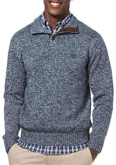 Chaps Big & Tall Combed Cotton Mockneck Sweater<br>