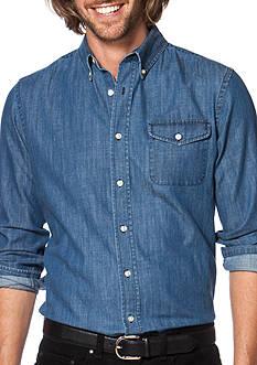 Chaps Big & Tall Denim Workshirt