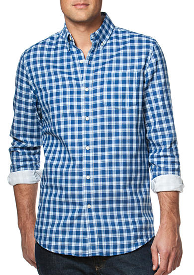 Chaps Big & Tall Double-Faced Checked Shirt