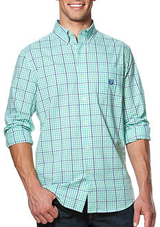 Chaps Big & Tall Checked Poplin Shirt