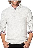 Chaps Big & Tall Cotton-Blend Shawl Pullover