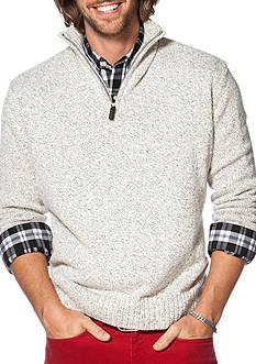 Chaps Big & Tall Marled Half-Zip Sweater