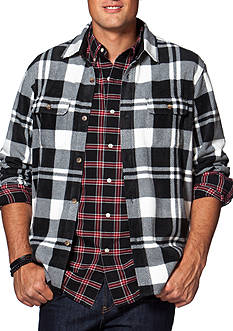 Chaps Big & Tall Buffalo Plaid Fleece Shirt Jacket